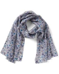Antonio Melani - Made With Liberty Fabrics Rachel Silk Chiffon Scarf - Lyst