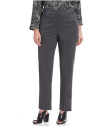 Ruby Rd. - Plus Size Ff Double Face Stretch Ankle Pants - Lyst