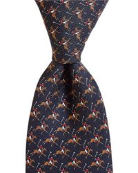 "Polo Ralph Lauren - Printed Polo Player Narrow 3"" Silk Tie - Lyst"