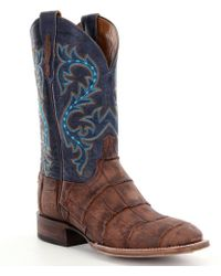 Lucchese | Men ́s Malcolm Western Alligator Foot Boots | Lyst