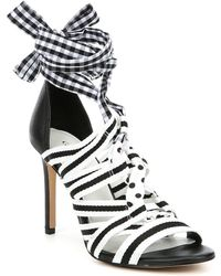 5d1e9b7bd64 Gianni Bini - Abrianna Gingham Lace Up Dress Sandals - Lyst