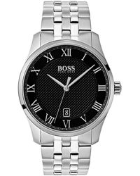 BOSS - 1513588 Masters Stainless Steel Watch - Lyst