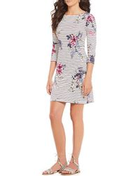Joules - Riviera Printed Dress - Lyst