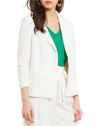 Skies Are Blue - Ruched Sleeve Blazer - Lyst