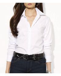 """Lauren by Ralph Lauren - """"aaron"""" Wrinkle-free Shirt - Lyst"""