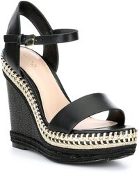 ALDO - Relinia Leather Wedge Sandals - Lyst