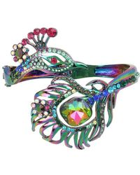 Betsey Johnson - Peacock Statement Hinge Bracelet - Lyst