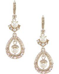Marchesa - Double Faux Pearl Drop Earrings - Lyst