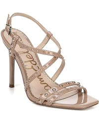 a5236118a5d Sam Edelman - Lennox Studded Patent Dress Sandals - Lyst