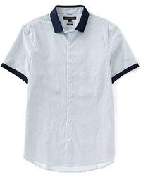 Michael Kors - Blaise Print Short-sleeve Woven Shirt - Lyst