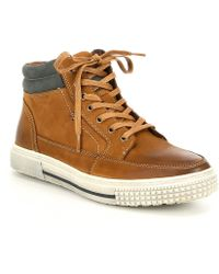 Kenneth Cole Reaction - Men's Highrise Nubuck Leather Sneaker - Lyst