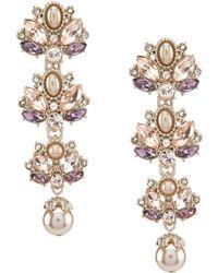 Marchesa Cluster Linear Earrings