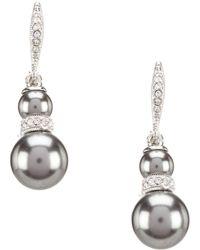 Nadri - Pearl Drop Earrings - Lyst