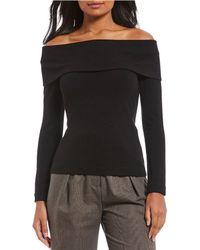 Antonio Melani - Denver Off-the-shoulder Fold Over Sweater - Lyst