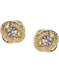 Kate Spade - Infinity & Beyond Gold Plated Knot Stud Earrings - Lyst