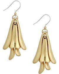 Lucky Brand - Silver-tone Petal Drop Earrings - Lyst