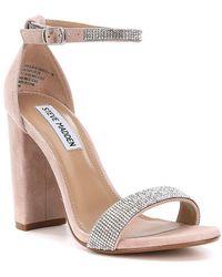 Carrson Snake-Embossed Ankle Strap Dress Sandals w0Vbj72S