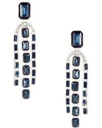 Lauren by Ralph Lauren - Blue Chandelier Statement Earrings - Lyst