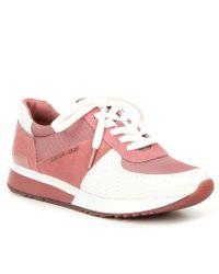 73915cb1211 Lyst - Michael Kors Michael Women¡ ̄s Allie Trainer Sneakers in Brown