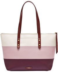 Fossil - Jayda Colorblock Tote - Lyst