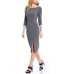 Adrianna Papell - Sparkle Knit Midi Dress - Lyst