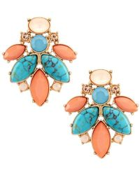 Belle By Badgley Mischka | Fancy Flower Stud Earrings | Lyst