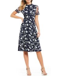 Antonio Melani - Britt Floral Embroidered Tulle Midi Dress - Lyst