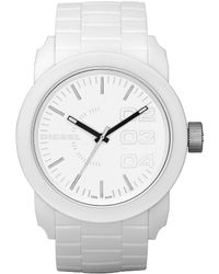 DIESEL - White Matte Plastic And Silicone 3 Hand Watch - Lyst