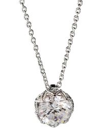 Nadri - Classic Rhodium And Cubic Zirconia Pendant Necklace - Lyst