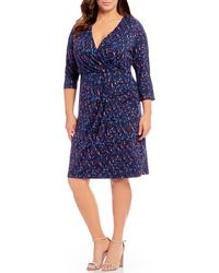 REBEL WILSON X ANGELS - Plus Size Wrap Dress - Lyst