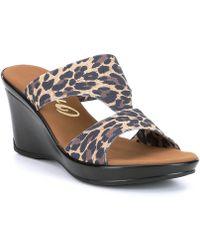 Onex - Gabi Leopard Sandals - Lyst