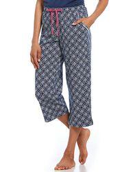 Karen Neuburger - Printed Capri Jersey Sleep Pants - Lyst
