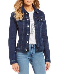 Leather Calvin Klein Skin Lyst Jacket Jeans Faux Elephant Biker nYFO1qgw