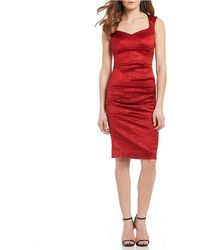 Nicole Miller - Santina Stretch Crinkle Tuck Sheath Dress - Lyst