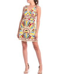a9bdfa182c5 Gianni Bini - Airanna Geometric Beaded Sleeveless Sheath Dress - Lyst