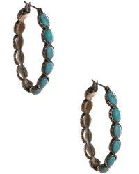 Lucky Brand - Oblong Hoop Earrings - Lyst