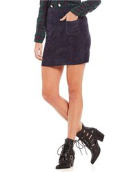 Sugarlips - Cord Front Pocket Mini Skirt - Lyst