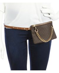 Lyst - MICHAEL Michael Kors Pull Chain Belt Bag in Black 3787657ec89c3