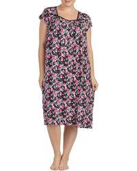 Eileen West - Plus Floral-printed Jersey Waltz Nightgown - Lyst