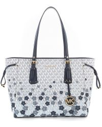 MICHAEL Michael Kors - Voyager Signature Floral Multifunction Tote - Lyst