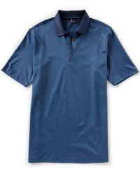 5eb75f93a Hart Schaffner Marx - Short-sleeve Solid Zip Polo - Lyst