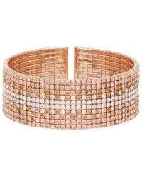 Anne Klein - Rose Gold Ombre Cuff Bracelet - Lyst