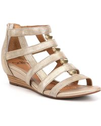 Söfft - Rio Leather Caged Metal Detail Gladiator Wedges - Lyst