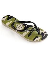 d028f262f03 Lyst - Havaianas Slim Camo Print Flip Flops in Green
