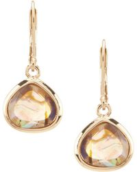 Anne Klein - Stone Drop Earrings - Lyst