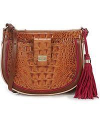 Brahmin - Toasted Almond Hayes Collection Vanessa Cross-body Bag - Lyst