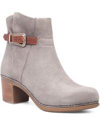 Dansko - Hartley Leather Block Heel Booties - Lyst