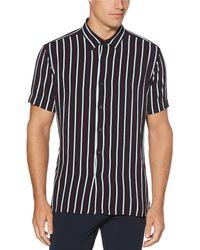 Perry Ellis - Stripe Short-sleeve Woven Shirt - Lyst