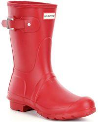 HUNTER - Women ́s Original Short Matte Rain Boots - Lyst