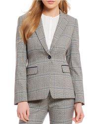 Tahari - Plaid 2 Piece Jacket Suit - Lyst